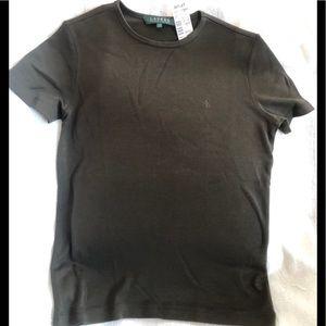 LAUREN by Ralph Lauren NWT, T-shirt,olive green, P